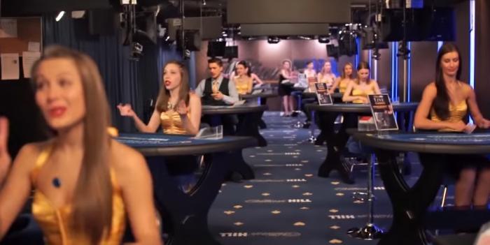 Live Casino dealers i Evolution Gaming studio Riga