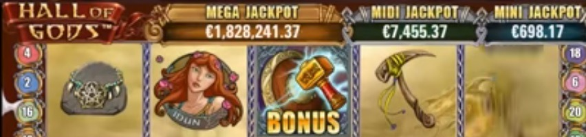 Hall of Gods jackpott slot